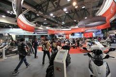 Eicma 2011, internationale Motorradausstellung lizenzfreies stockbild