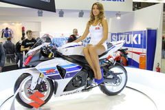 EICMA 2012 70. Motorrad Mailand Lizenzfreies Stockbild