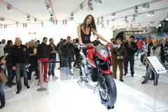 EICMA 2012 70. Motorrad Mailand Stockbild