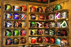 EICMA 2014. EICMA - 72 ° Motorcycling Worlds Fair - Milan 6-9 November 2014. custom helmets on display Stock Images