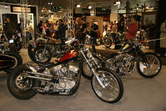 EICMA 2014. EICMA - 72 ° Motorcycling Worlds Fair - Milan 6-9 November 2014. custom motorcycles on display Royalty Free Stock Photo