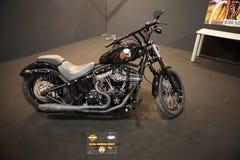 EICMA 2014. EICMA - 72 ° Motorcycling Worlds Fair - Milan 6-9 November 2014. harley davidson custom exposure Stock Photos
