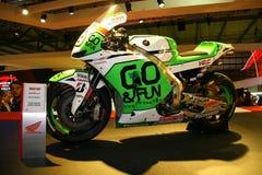 EICMA 2014. EICMA - 72 ° Motorcycling Worlds Fair - Milan 6-9 November 2014.  Honda participant in the 2014 MotoGP rider Alvaro Bautista of Team Go & Fun Honda Royalty Free Stock Photography