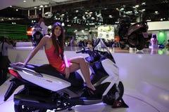 EICMA 2014. EICMA - 72 ° Motorcycling Worlds Fair - Milan 6-9 November 2014. Kymco Agility Max 1 Royalty Free Stock Photos