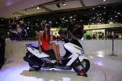 EICMA 2014. EICMA - 72 ° Motorcycling Worlds Fair - Milan 6-9 November 2014.  Kymco Agility Maxi 300i ABS 2015 Stock Image