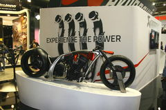 EICMA 2014. EICMA - 72 ° Motorcycling Worlds Fair - Milan 6-9 November 2014. Stand Akrapovic Royalty Free Stock Image