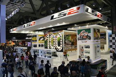 EICMA 2014. EICMA - 72 ° Motorcycling Worlds Fair - Milan 6-9 November 2014. Stand LS2 Helmets Stock Images