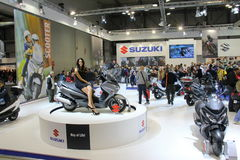 EICMA 2013 Suzuki Royalty Free Stock Photos