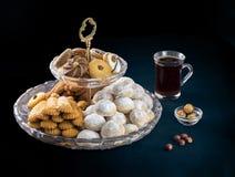 Eid早餐曲奇饼,穆斯林一点假日快餐 免版税库存图片