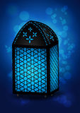 Eid的美丽的伊斯兰教的灯/赖买丹月庆祝-导航I 库存图片