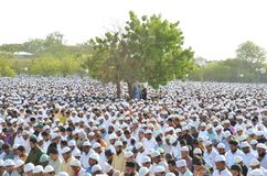 Eid祷告在博帕尔,印度 库存照片