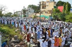 Eid祷告在博帕尔,印度 图库摄影
