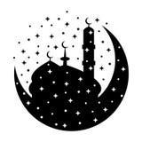 Eid穆巴拉克卡片 库存照片