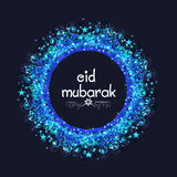 Eid穆巴拉克庆祝的创造性的蓝色框架 免版税库存图片