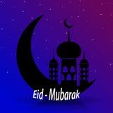 Eid穆巴拉克美丽的贺卡-伊斯兰教的背景 免版税库存照片
