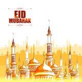 Eid穆巴拉克背景 向量例证