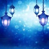 Eid穆巴拉克问候背景灯笼 免版税库存照片