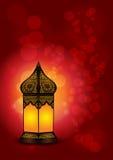 Eid/赖买丹月庆祝的-传染媒介美丽的伊斯兰教的灯 免版税库存照片