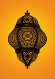 Eid/赖买丹月庆祝的-传染媒介美丽的伊斯兰教的灯 免版税库存图片