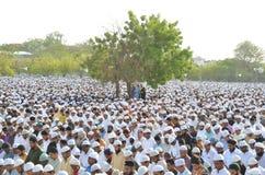 Молитва Eid в Бхопале, Индии стоковое фото