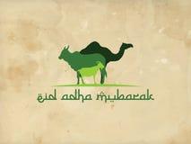 Eid-adha Mubarak-Grünhintergrundverzierung islamisch Lizenzfreies Stockbild