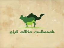 Eid-adha Mubarak-Grünhintergrundverzierung islamisch Lizenzfreie Stockfotografie
