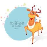 Eid-Al-Adha celebration with goat. Royalty Free Stock Photo