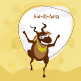 Eid-Al-Adha celebration with goat. Muslim community festival of sacrifice, Eid-Al-Adha celebration with illustration of a goat on stylish background Royalty Free Stock Images