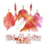 Eid al-Adha-Feier mit Moschee Lizenzfreies Stockbild
