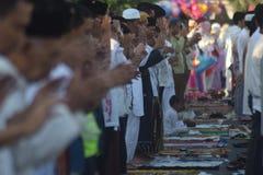 Eid al-Adha-gebeden in Semarang Royalty-vrije Stock Afbeeldingen