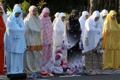 Eid al Adha-Gebete Stockfotos