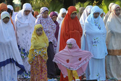 Eid al Adha-Gebete Lizenzfreie Stockfotografie