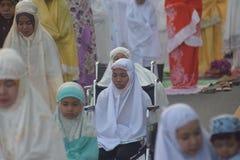 Eid al-Adha modlitwy w Semarang Obraz Stock