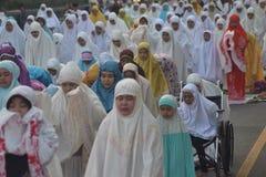Eid al-Adha modlitwy w Semarang Zdjęcie Royalty Free