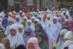 Eid al-Adha modlitwy w Semarang Fotografia Stock