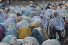 Eid al-Adha modlitwy w Semarang Zdjęcia Royalty Free
