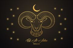 Eid al Adha Mubarak, moslimvakantie Het Feest van Offer royalty-vrije illustratie
