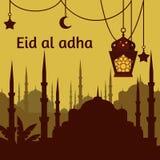 Eid al adha muslim Feast of the Sacrifice. Arabian and turk religion culture set Stock Photo