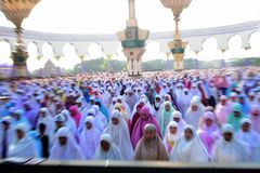 Eid Al-Adha Prayer Lizenzfreies Stockbild