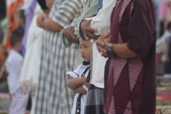 Eid al-Adha prayers in Semarang Royalty Free Stock Photos