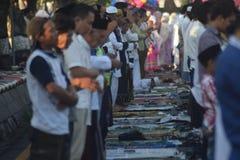 Eid al-Adha prayers in Semarang Stock Image