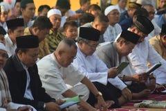 Eid al-Adha prayers in Semarang Royalty Free Stock Images