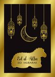 Eid al Adha Template royalty illustrazione gratis