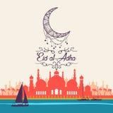 Eid al-Adha, ul-Adha Mubarak de Eid Kurban Bayrami, Kurban Bajram Foto de Stock Royalty Free
