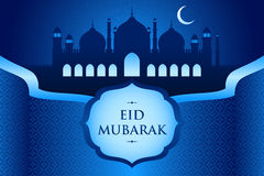 Eid-Al-fitr greeting card Stock Image