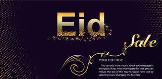 Eid Al Fitr Sale Vector Design para la bandera y el cartel Diseño hermoso de la tarjeta de felicitación con la UL-Adha elegante d ilustración del vector