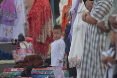 Eid AlAdha祷告在三宝垄 库存图片
