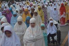 Eid AlAdha祷告在三宝垄 免版税图库摄影