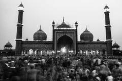 Eid Celebration in Jama Masjid stock foto