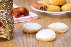 Eid El Fitr Kaak. Eid El Fitr Cookies - Dates , Lantern , and Kaak El Eid Royalty Free Stock Images